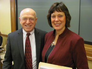 Ray Cross and State Sen. Sheila Harsdorf at a legislative briefing including policy issues impacting the direct assessment competency-based UW Flexible Option