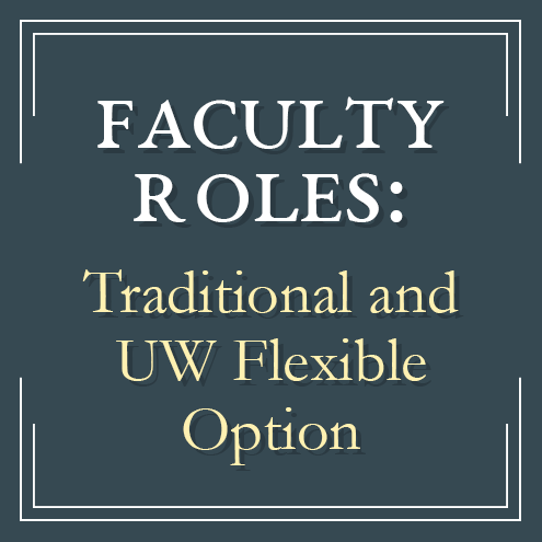 Faculy roles compared in traditional higher education and the UW Flexible Option direct assessment competency-based education program offered by the University of Wisconsin System and UW-Extension