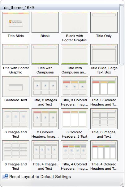 Selecting Slide Layout