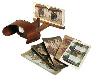 The stereoscope, invented 1838.