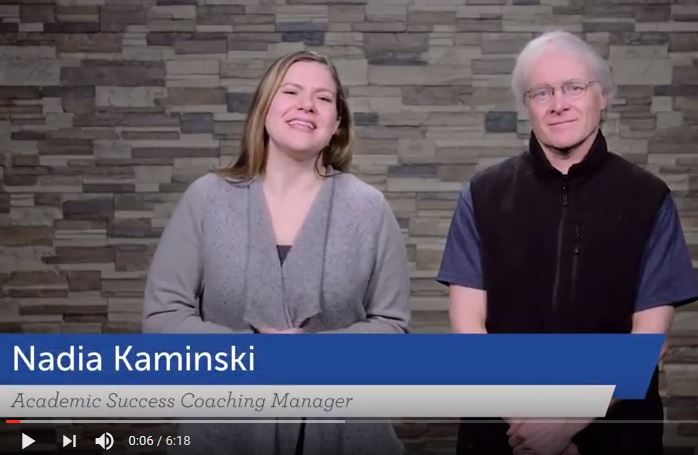 Nadia Kaminski and Mike Exum of the UW Flexible Option Academic Success Coaching team