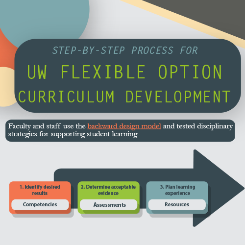 Step-by-Step Process for UW Flexible Option Curriculum Development infographic