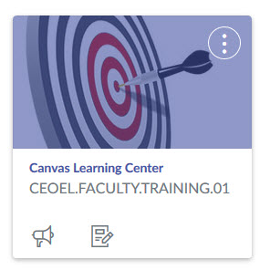 Canvas Learning Center Card